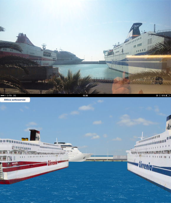 PTS3d and real image